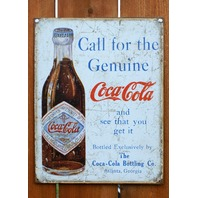 Coca Cola Atlanta Georgia Tin Sign Vintage Styled Advertisement AD Soda Pop E40