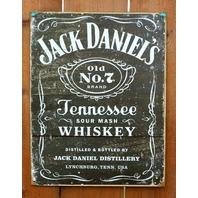 Jack Daniels Tennessee Whiskey Tin Sign Liquor Bar Man Cave Garage Decor