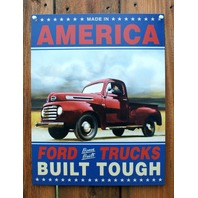 Made In America Ford Trucks Tin Sign F Series F 150 1950 Ford Pick Up E126