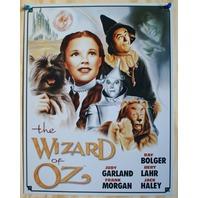 Wizard Of Oz Tin Sign Movie Poster Tin Man Dorothy Scarecrow Lion Toto D55
