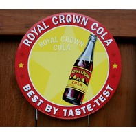 Royal Crown RC Cola Tin Metal Round bottle Sign Soda Pop Drink Classic Logo B88
