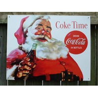 Coca Cola Santa Claus Tin Sign Garage Man Cave Business Soda Coke Saint Nick