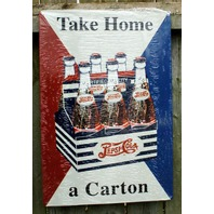 Pepsi Cola Take Home a Carton Aluminum Sign Garage Man Cave Business Soda