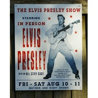 Elvis Presley Concert Hand Bill Tin Sign Music Man Cave Garage Guitar Stars