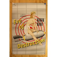 Eve Of Destruction Tin Sign USA Bomber Military Pin Up Air Force Tattoo Art E102