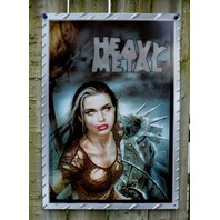 Heavy Metal Magazine New York Statue of Liberty Tin Metal Sign Comic Pinup