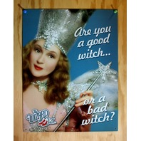 Good Witch or Bad Witch Wizard of Oz Tin Sign Movie Poster Ruby Shoes Dorthy