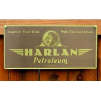 Harlan Petroleum Improve Your Ride With the Lion Inside Tin Sign Oil & Gas