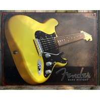Fender Stratocaster Tin Sign Guitar Bass Music Man Cave Garage Band Studio F32