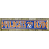 Kentucky Wildcats UK Aluminum Street Sign Bar NCAA Football Basketball Sports