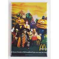 McDonalds Mascots Refrigerator Fridge Magnet Hamburglar Ronald McDonald Fries G7