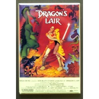 Dragons Lair Video Game Box Refrigerator Fridge Magnet Laser Disc 1980's