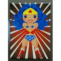 Wonder Woman Anime cute cartoon FRIDGE MAGNET Pin Up DC Comics Comic Book S18
