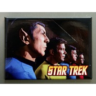 Star Trek Original Cast profile Refrigerator FRIDGE MAGNET Spock Kirk McCoy Q20