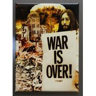 John Lennon War Is Over Refrigerator FRIDGE MAGNET Peace The Beatles Protest