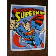 Superman Tin Metal Sign DC Comics Comic Books Flying Clark Kent Man of Steel D46