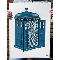 Dr Who Tardis Poster Print By Clark Orr Signed BBC Sci Fi Time Lord Doctor Dalek
