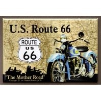 US Route 66 Refrigerator Fridge Magnet Indian Motorcycle USA Americana A8