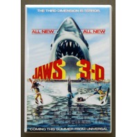 Jaws 3D Refrigerator Fridge Magnet Great White Shark Horror Monster  Movie K3