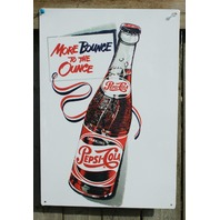 Pepsi Cola Bounce to Ounce Classic Tin Sign Garage Man Cave Soda Throwback F111
