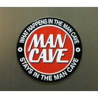 What Happens In The Man Cave Stays In The Man Cave Refrigerator Magnet Garage B6