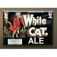 White Cat Ale Refrigerator Fridge Magnet Cleveland Ohio Beverage Beer Alcohol F2