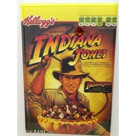 Kelloggs Indiana Jones Cereal refrigerator FRIDGE MAGNET Chocolate Whip  Q5