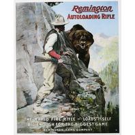 Remington Auto Loading Rifle Tin Sign Ammo Gun Shotgun Outdoors Hunting