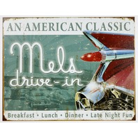 Mels Drive In An American Classic Tin Sign Breakfast Lunch Dinner Diner B104