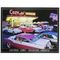 Cozy Drive In Tin Sign Bel Air Lucinda Lewis Ford Chevy 65 58 Corvette Chevrolet