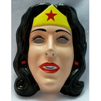 Vintage DC Comics Wonder Woman Justice League Halloween tiara head piece Mask Y9