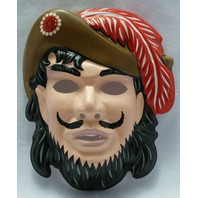 Walt Disney Captain Hook Vintage Halloween Mask Rubies  Pirate Peter Pan Y036