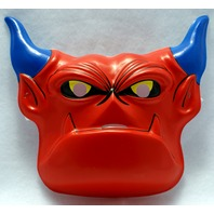 Vintage Plastic Red Devil Halloween Mask Mighty Max Warmonger 1994 Creepy Y057