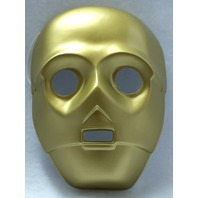Star Wars C-3PO C3PO Vintage Halloween Mask Rubies 1994 Scifi Lucasfilm PVC Y063