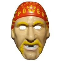 WWF Hulk Hogan Vintage Halloween Mask WWE WCW NWO PVC Wrestling Hulkamania