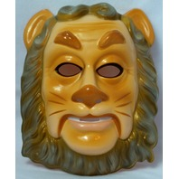 Wizard of Oz Cowardly Lion Vintage Halloween Mask Dorthy Toto TIn Man Y238