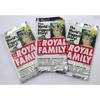 Vintage The Royal Family Trading Cards 1993 Princess Diana Wax England 3 PACKS