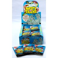 3 Vintage Packs of Nasty Tricks Trading Cards Prank Wax Pack Non Sports