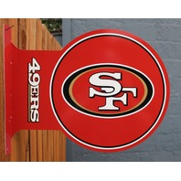 Double Sided San Franciscoo 49ers Flange Tin Metal Sign NFL Football Team Sports