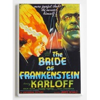 The Bride of Frankenstein Karloff Movie Poster FRIDGE MAGNET horror spooky o11