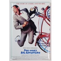 Pee wees big adventure movie poster Peewee Herman bike FRIDGE MAGNET H33