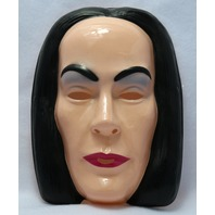 Vintage Morticia Addams Family Halloween Mask Rubies Monster Classic