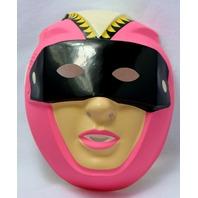 Vintage Pink VR Troopers Halloween Mask Rubies Girls Costume Futuristic Y137