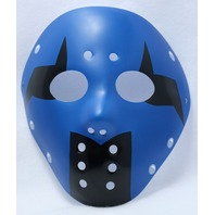 Blue & Black Goalie Halloween Mask Jason Friday The 13th Horror Hockey Spooky