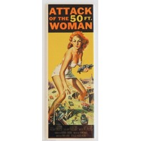 Attack of the 50ft Woman FRIDGE MAGNET Movie Marquee SciFi Horror Film LA3