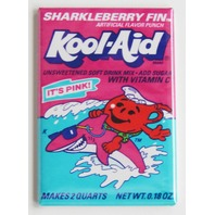 Sharkleberry Fin Koolaid Kool Aid man Pink Shark  wrapper FRIDGE MAGNET K11