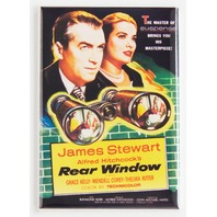 The rear window movie poster FRIDGE MAGNET Hitchcock Stewart Grace Kelly M9