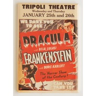 Tripoli Theatre Dracula Frankenstein movie poster FRIDGE MAGNET Horror show M5