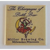 Miller Brewing co beer witch on moon Fridge Magnet Champaign bottle beer K7