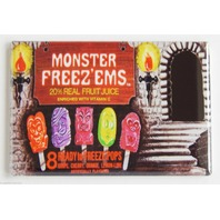 Monster Freeze ems popsicle box FRIDGE MAGNET 70s food ad repro mag H7